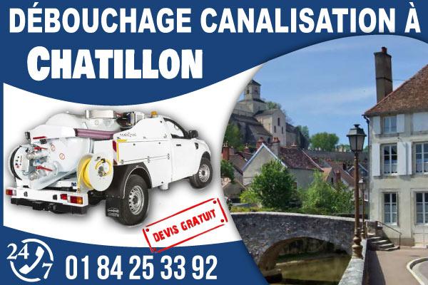 debouchage-canilisation-Chatillon