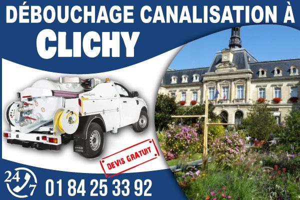 debouchage-canilisation-Clichy
