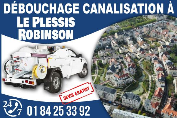 debouchage-canilisation-Le-Plessis-Robinson